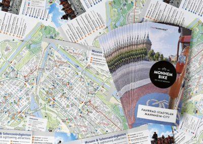 Stadtplanfolder Monnem Bike